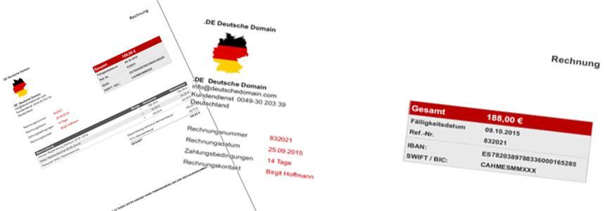 vorsicht bei rechnungen von de deutsche domain elbe. Black Bedroom Furniture Sets. Home Design Ideas