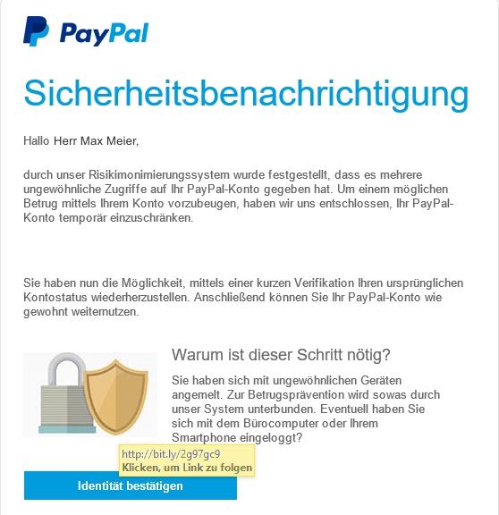 paypal email verifizieren